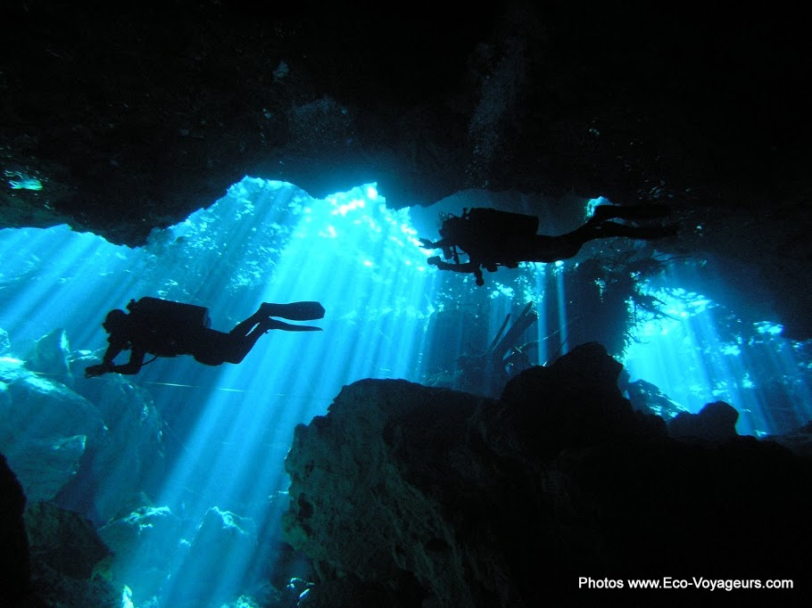 Yucatan cenote scuba diving