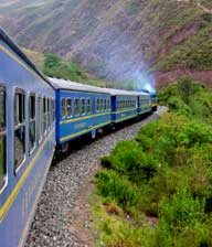 Train vers Machu Picchu